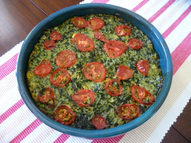 Spinach and Rice Cake