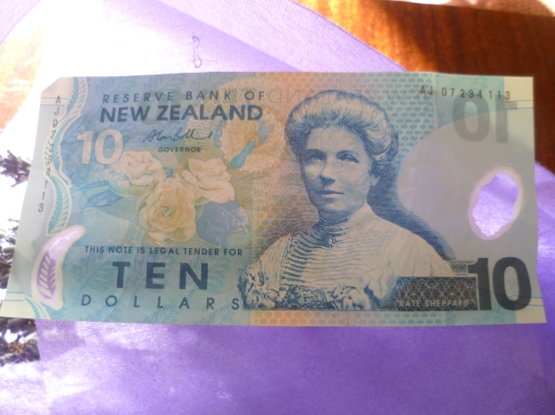 Kate Sheppard is worth more than Ten Dollars