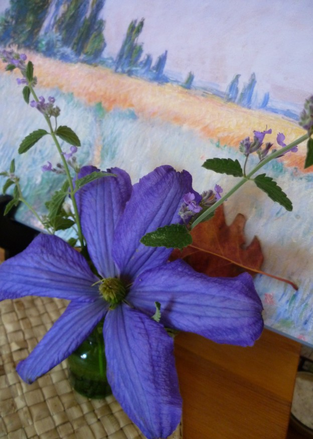 An Impression of Clematis and Catnip