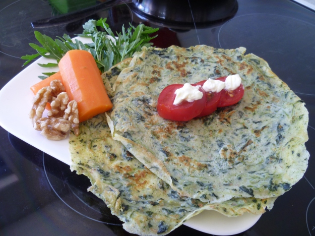 Spinach Crepes for Lunch