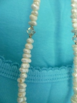 Freshwater pearls and crystals