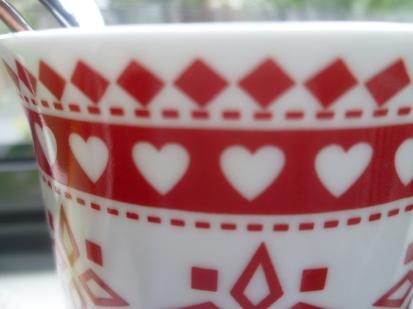 Hearts on a mug