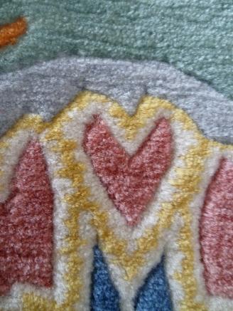 Heart rug