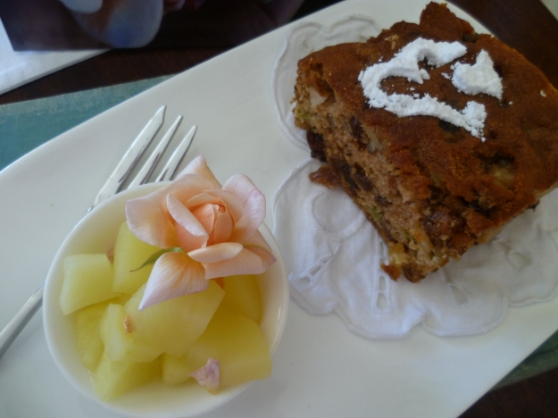 Spicy Rhubarb Cake