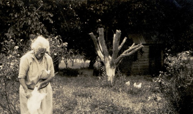 Great grandmother circa 1927 working hard on the farm.
