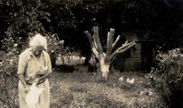 Great grandmother circa 1927 working hard on the farm.