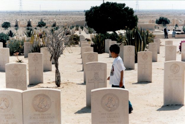 Commonwealth War Cemetery, El Alamein, mid 1990s