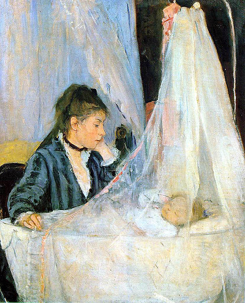 The Cradle  Berthe Morisot http://en.wikipedia.org/wiki/File:Berthe_Morisot,_Le_berceau_%28The_Cradle%29,_1872.jpg(January 14, 1841 – March 2, 1895)