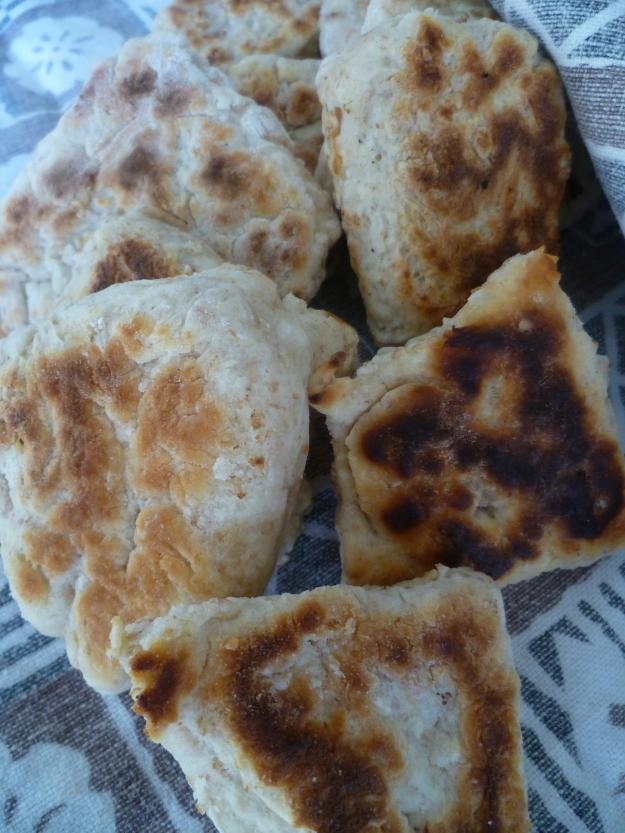Rustic girdle scones