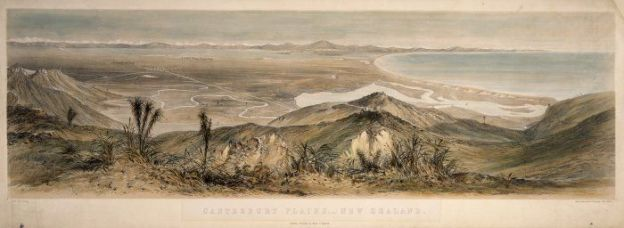 Norman, Edmund 1820-1875 :Canterbury Plains,- New Zealand. / Drawn by E. Norman. Maclure, Macdonald & Macgregor, Lith, London. Lyttelton, Published by Martin G. Heywood, [ca 1855]. http://mp.natlib.govt.nz/detail/?id=8818