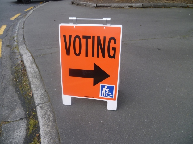 Early Voting, Fendalton Library, for New Zealand elections, 20 September, 2014