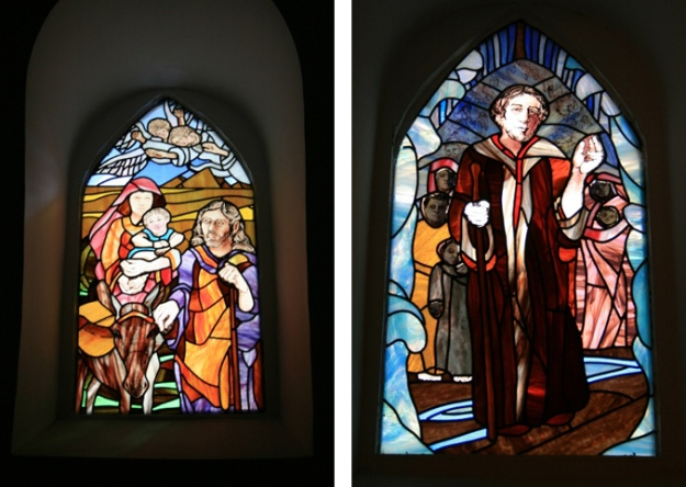 Windows by Debra Balchen, commissioned by St John's Church, Maadi, Cairo.