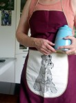 My new Ann Guy apron and my new cookie jar; beautiful gifts