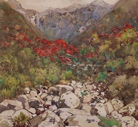 Margaret Stoddart An Otira Stream (also known as Mountain Rata) 1927 http://christchurchartgallery.org.nz/blog/collection-articles/2014/02/28/an-otira-stream-also-known-as-mountain-rata-by-mar/