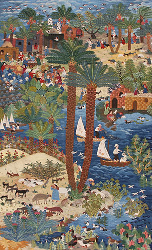 """The Banks of the Nile"" by Sayed Mahmoud http://www.wissa-wassef-arts.com/bm.html"