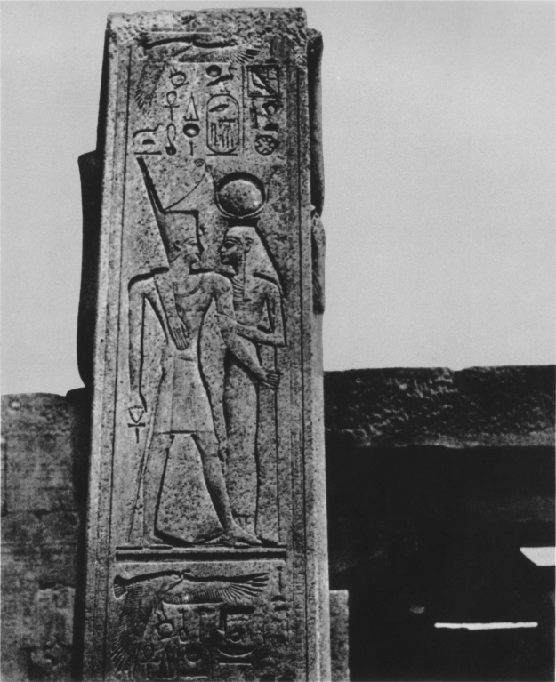 Stele at  Karnak, Egypt, Calotype taken by Maxime Du Camp, French writer and photographer (1822-1894)