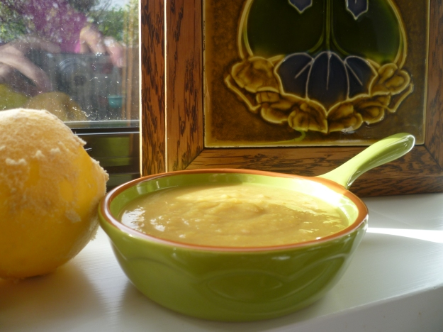 A little sunshine dips into the pumpkin soup.