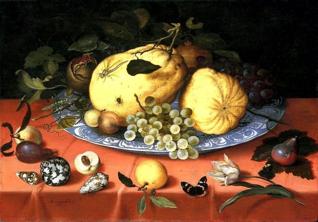 """Fruit still life with shells"" by Balthasar van der Ast (1593/1594–1657) - 1. www.ibiblio.org : Home : Info : Pic2. Unknown3. The Athenaeum: Home - info - pic. Licensed under Public Domain via Wikimedia Commons - https://commons.wikimedia.org/wiki/File:Fruit_still_life_with_shells.jpg#/media/File:Fruit_still_life_with_shells.jpg"