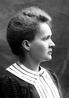 """Marie Curie 1903"" by Nobel foundation - http://nobelprize.org/nobel_prizes/physics/laureates/1903/marie-curie-bio.html. Licensed under Public Domain via Wikimedia Commons - https://commons.wikimedia.org/wiki/File:Marie_Curie_1903.jpg#/media/File:Marie_Curie_1903.jpg"