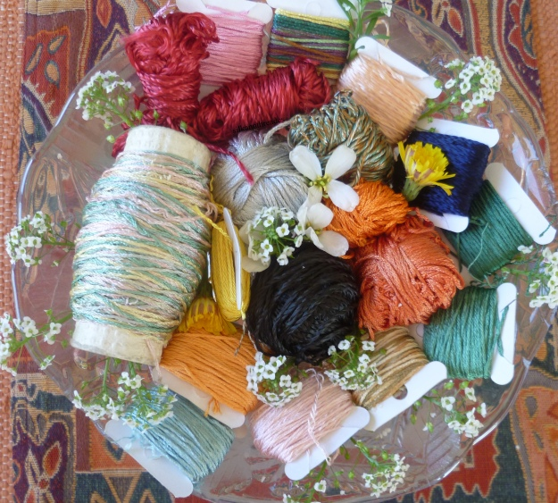 Sold! Vintage crochet thread remnants